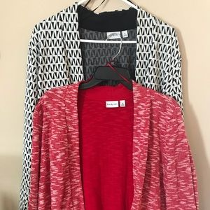 2 Kim Rogers open front cardigans
